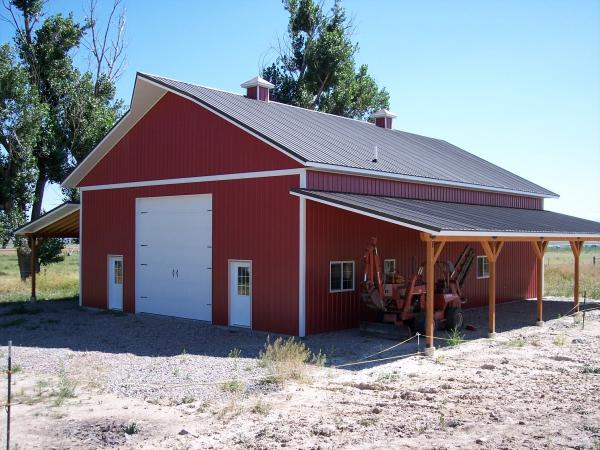 Metal garage building systems have the best dollar return for Metal shop house plans